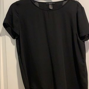 Black blouse with back slit